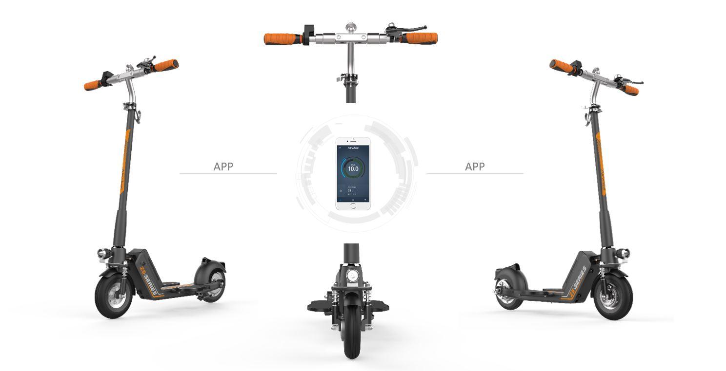 Elektrická koloběžka Airwheel Z5 - propojení koloběžky s aplikací