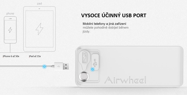 Elektrická koloběžka Airwheel Z5 - USB nabíjení