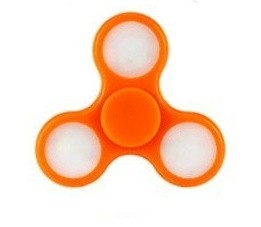 SPINEE Fancy LED Orange Fidget Spinner