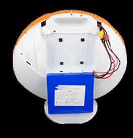 Třetí krok vyjmutí baterie u elektrické jednokolky Eljet