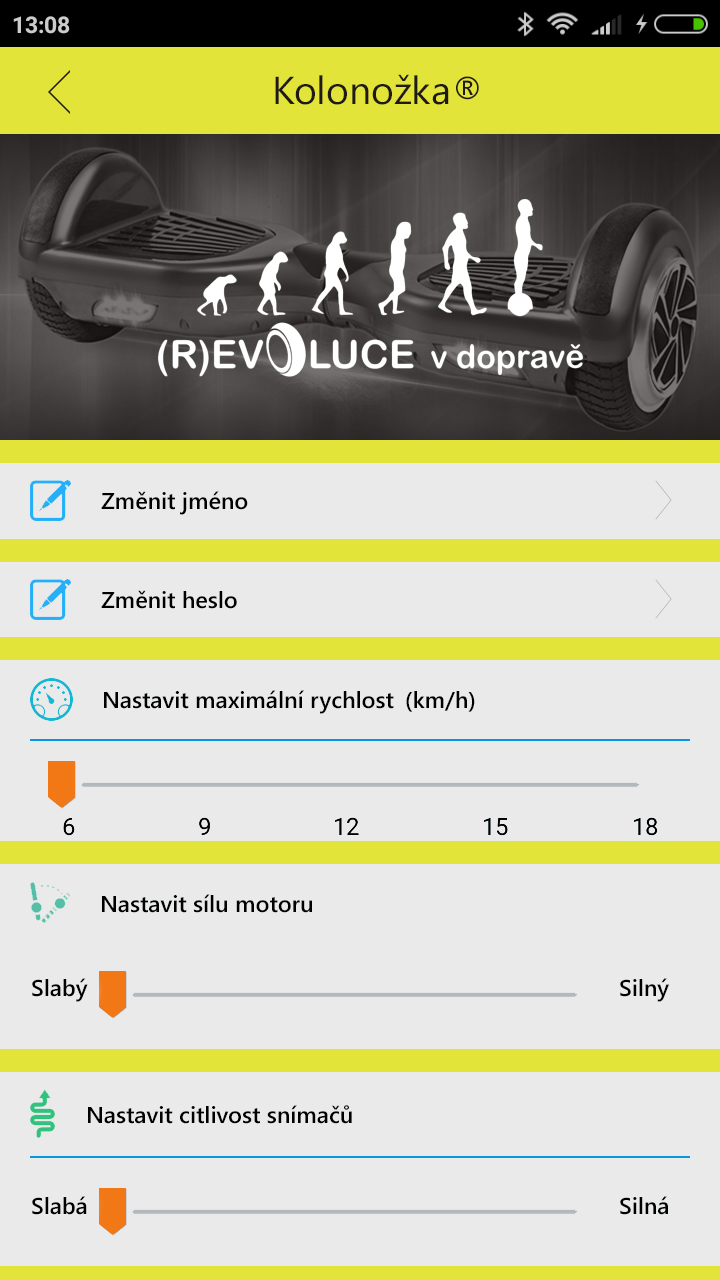 Mobilní aplikace Kolonožka APP